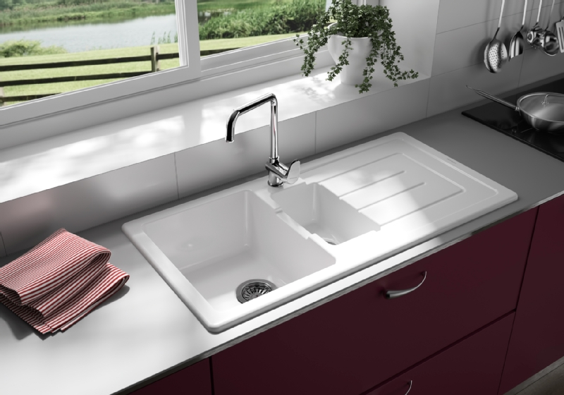 Lavello da cucina una vasca e 1/2 con piletta Reno - online