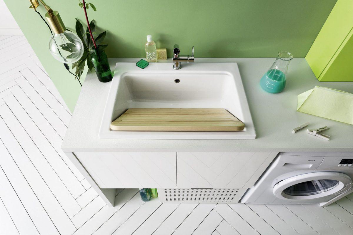 Lavatoio In Ceramica Per Lavanderia.Lavatoio Bolle 9 In Ceramica Arbi