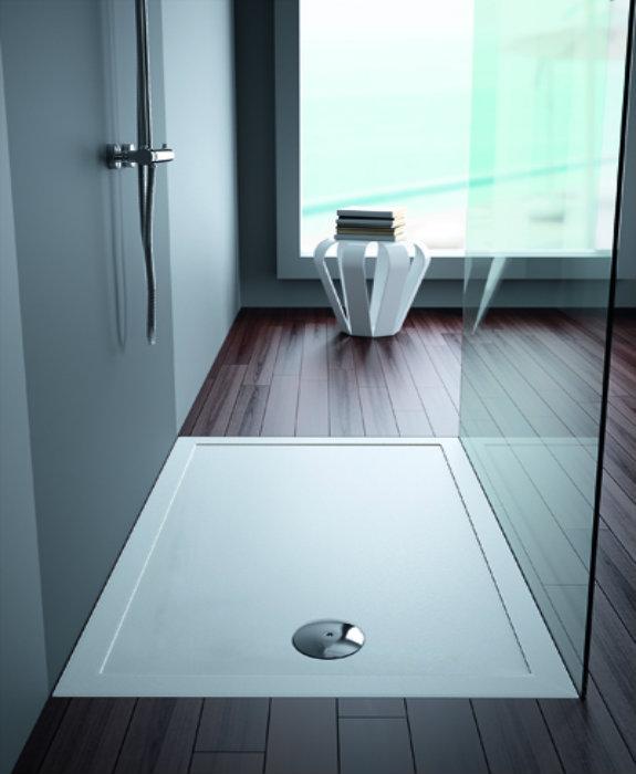 Piatto doccia in ceramica antiscivolo 140x70 stepin for Piatto doccia 140x70